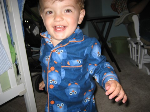 Theo happy owl pjs 16 months